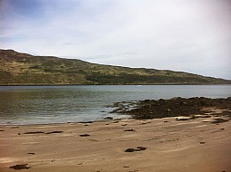 Arriving at Kinloch Catle, Rum