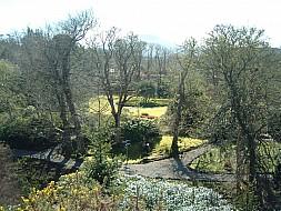 Looking through the garden at Dunvegan Castle