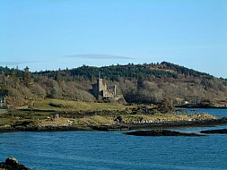 Looking over the bay to Dunvegan Castle